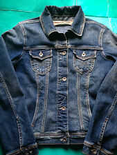 Next Jeans Girls' Vintage Blue Denim Fitted Jacket Western Trucker UK 12 EU 40