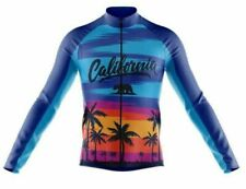 California Sunset Long Sleeve Cycling Jersey Free Shipping