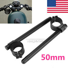 50mm Black CNC Motorcycle Handle Bars Clip On For Yamaha YZF R1 R6 R6S 750R 2006