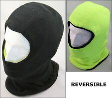 Reversible para hombre Negro Amarillo Pasamontañas Hood, Polar Balaclava