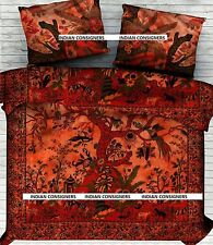 Duvet Cover With Pillows Floral Print Dry Tree  Bedsheet Queen Size Comfortable