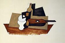 "PICASSO LITHOGRAPH ""Guitare Verre et Bouteille'""  Signed, Marina Estate, COA"