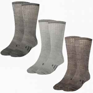 3 Pairs Thermal 80% Merino Wool Socks Hiking Crew Winter Men's Women's Kid's