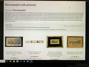 """Stevengraph Antique Silk Pictures (2) """"Black Swan"""" and """"Lady Godiva Procession"""""""