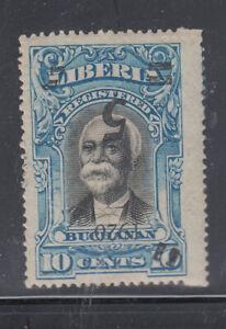 Liberia # 178a Mint Inverted  Surcharge  W/ Extra Vertical HANDSTAM QUAD.