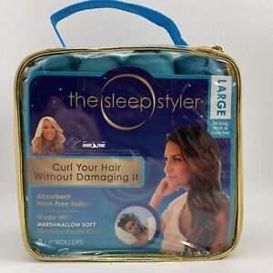 """The Sleep Styler LARGE 8- 6"""" Rollers for Long thick or curly hair - Heat free"""