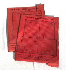 1969 & 1970 KELLY'S POST OFFICE LONDON DIRECTORY STREET PLAN MAPS - LOT 20