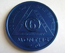 Recovery coins AA Aluminum Medallion token sobriety affirmation birthday 6 Month