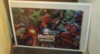 MARVEL SUPER HEROES POSTER COLLECTIBLE  MARVEL DC COMICS LIMITED PRODUCTION RUN