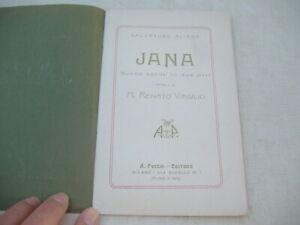 """LIBRETTO OPERA LIRICA """"JANA SCENE SARDE"""" 1905 DI ALIAGA, MUSICA DI R. VIRGILIO"""