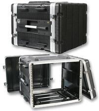 """Pulse 8U 19"""" ABS Caja de equipo de vuelo Protectora Montaje en Rack DJ PA Amp Equipo"""