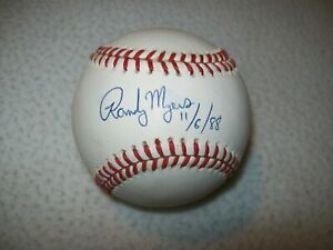 RANDY MYERS SIGNED AUTOGRAPHED NL BART GIAMATTI BASEBALL ORIOLES CUBS REDS