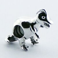 Silver bead Baby Dinosaur 21mm height 925 sterling silver for charm bracelet