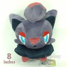 "Pokemon Zorua Plush Soft Toy Stuffed Animal Doll Dark Type Character 8""/20cm NEW"