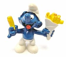 Smurf Schleich Peyo French Fries Greedy Hungry Hong Kong 1980 Collector Vintage