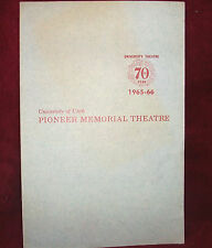 PIONEER MEMORIAL THEATRE 1965 Playbill TAKE HER SHES MINE Playbill Utah Utes