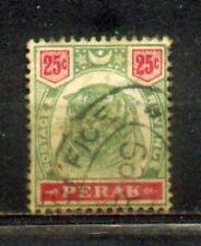 "FMS Malaya Malaysia Perak 1895-99  Old ""Tiger"" Stamps  25c CV Rm 50"