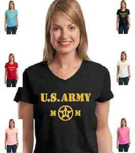 """Military Patriotic """" U.S. Army Mom"""" Armed Forces womens T-Shirt W/Free Shipping"""
