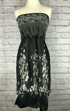 Anthropologie Lapis Smocked Boho Floral Gray Convertible Skirt or Dress One Size