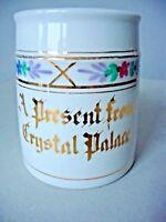 Rare Antique Crystal Palace Souvenir Made In Germany Porcelain Tankard Mug
