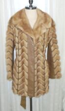 Vintage Retro Shabby Chic Leather & Mink Fur Schlampps Minneapolis Coat