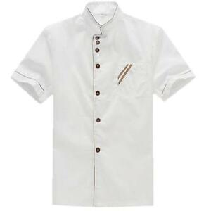 Short Sleeve Kitchen Chef Restaurant Working Uniform Waiter Waitress Coat Jacket