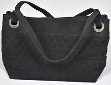 Vera Bradley Women's Black Quilted Polyester Medium Tote Handbag Purse