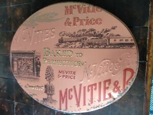 McVities biscuits vintage tin BBE 24207 Oval used condition collectable