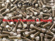 (10) 5/16-18x3/4 Socket Allen Head Cap Screw Stainless Steel 5/16 x .75