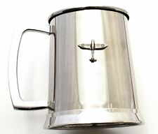 Spitfire Pint Tankard Stainless Steel Ideal Vintage Plane Gift