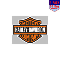 Harley Davidson Logo 4 Stickers 4x4 Inch Sticker Decal