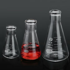 Conical Flask Erlenmeyer Laboratory Borosilicate Glass Glassware 50 100 250ml