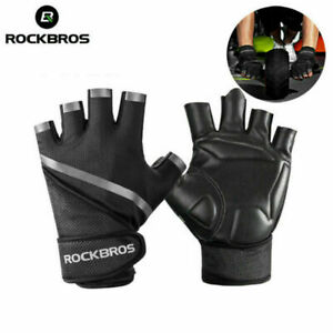 ROCKBROS Bicycle Gloves Half Finger Fitness Gloves Cycling Gr. M-2XL