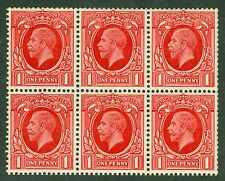 SG 441f 1d booklet pane of 6. Fine unmounted mint CAT £120