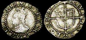 W315: 1582 Elizabeth 1st Hammered Silver Penny, im Sword, Spink 2575
