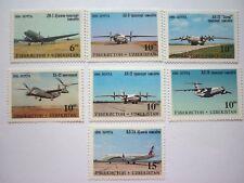 Usbekistan Flugzeuge 1995 Satz und Block postfrisch