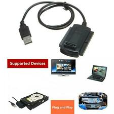 シ Festplatte HD HDD Konverter Adapter Kabel USB 2.0 zu SATA IDE 2.5 3.5 *