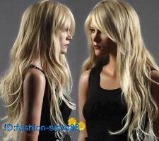 Long Western ladies Wig Like Real Natural Hair Wave Curly Blonde Wig Wigs