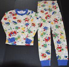 exc Hanna Andersson organic cotton Christmas PJ Long Johns pajama boys 130 8