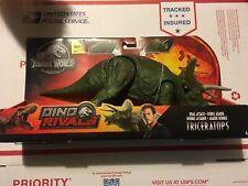 Jurassic World Dino Rivals Dual Attack Grey Triceratops Trike Jurassic Park Rare