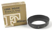 Nikon LENS HOOD w/ Box for Nikkor - Auto 28 MM 3.5 - JAPAN