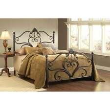 Hillsdale Newton Bed Set, Queen, w/Rails, Antique Brown Highlight - 1756BQR