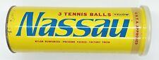 VINTAGE NASSAU UNOPENED CAN 3 TENNIS BALLS USTA APPROVED KOREA