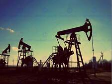 PHOTOGRAPHY COMPOSITION OIL PUMP INDUSTRY GAS SILHOUETTE PRINT POSTER MP3412B