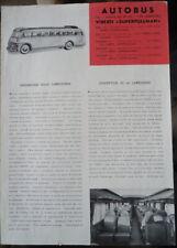 Brochure originale FIAT 666RNL Viberti superpullman, 1948