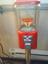 "VINTAGE- 1960's Coca Cola THEMED ""Oak"" Candy / guumball Machine Glass globe NICE"
