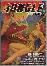 Vintage Pulp Magazine~JUNGLE STORIES~Winter 1943/44  Ki-Gor w/Dragon GROSS Cover
