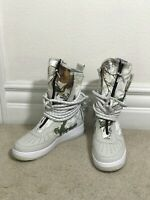 MENS NIKE AIR FORCE 1 SF AF1 HI LIGHT BONE BOOTS REAL TREE AA1128-005 Size 9 Men