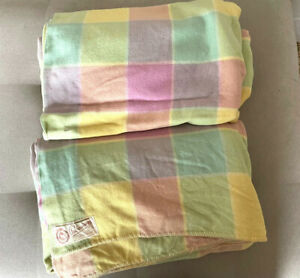 2 x Vintage ONKAPARINGA 100% Wool Blankets Large  210 x 220 Great Colours!