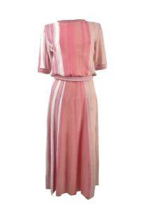 Marella Women's Striped Sweater Dress (XL, Pink)